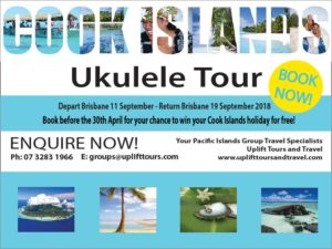 cook islands tour 2018,ukuele tour cook islands ukulele tour
